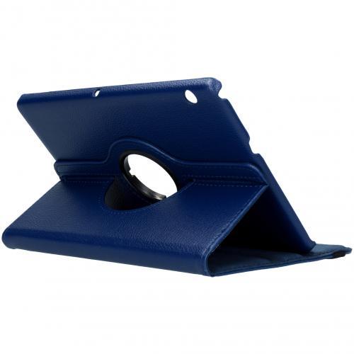 360° draaibare Bookcase voor de Huawei MediaPad T3 10 inch - Donkerblauw