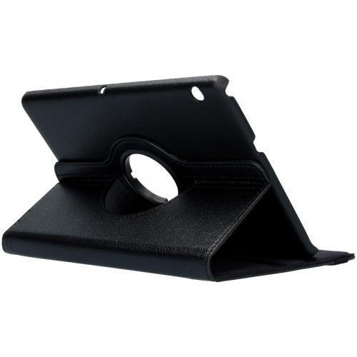 360° draaibare Bookcase voor de Huawei MediaPad T3 10 inch - Zwart