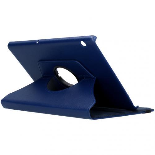360° draaibare Bookcase voor de Huawei MediaPad T5 10.1 inch - Donkerblauw