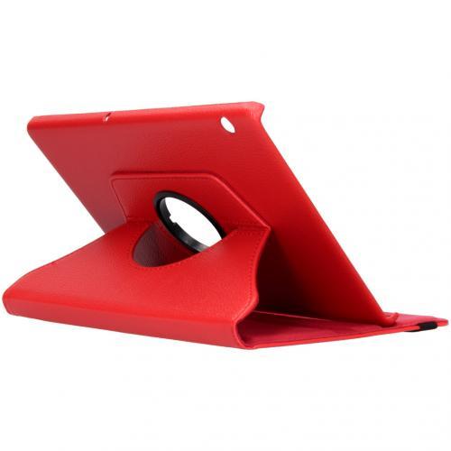 360° draaibare Bookcase voor de Huawei MediaPad T5 10.1 inch - Rood