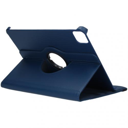 360° draaibare Bookcase voor de iPad Air (2020) / Pro 11 (2018 / 2020) - Donkerblauw