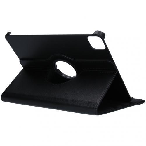 360° draaibare Bookcase voor de iPad Air (2020) / Pro 11 (2018 / 2020) - Zwart