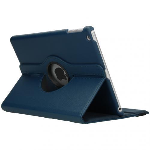 360° draaibare Bookcase voor de iPad Air - Donkerblauw