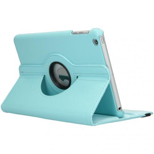 360° draaibare Bookcase voor de iPad Mini / 2 / 3 - Turquoise