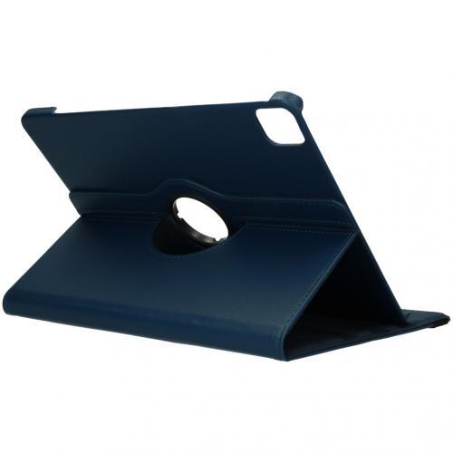 360° draaibare Bookcase voor de iPad Pro 12.9 (2020) - Donkerblauw