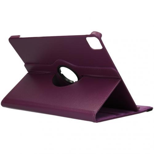 360° draaibare Bookcase voor de iPad Pro 12.9 (2020) - Paars