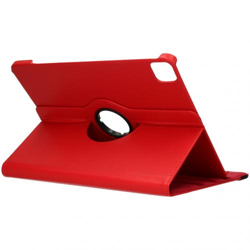 360° draaibare Bookcase voor de iPad Pro 12.9 (2020) - Rood