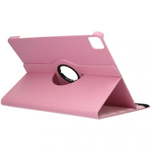 360° draaibare Bookcase voor de iPad Pro 12.9 (2020) - Roze