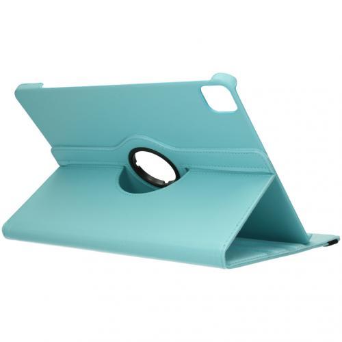 360° draaibare Bookcase voor de iPad Pro 12.9 (2020) - Turquoise