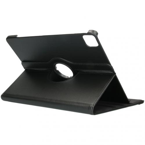 360° draaibare Bookcase voor de iPad Pro 12.9 (2020) - Zwart