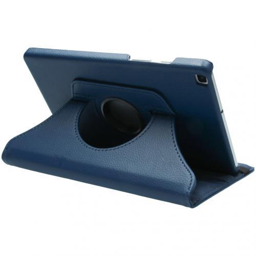 360° draaibare Bookcase voor de Samsung Galaxy Tab A 8.0 (2019) - Donkerblauw