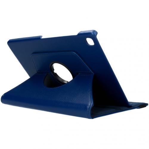 360° draaibare Bookcase voor de Samsung Galaxy Tab S5e - Donkerblauw