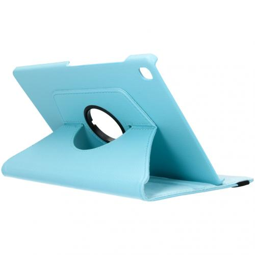 360° draaibare Bookcase voor de Samsung Galaxy Tab S5e - Turquoise