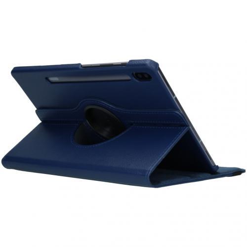 360° draaibare Bookcase voor de Samsung Galaxy Tab S6 - Blauw