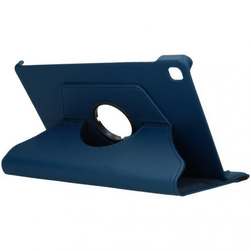 360° draaibare Bookcase voor de Samsung Galaxy Tab S6 Lite - Donkerblauw