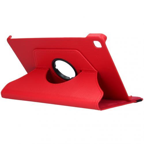 360° draaibare Bookcase voor de Samsung Galaxy Tab S6 Lite - Rood