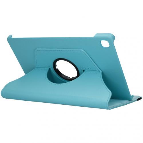 360° draaibare Bookcase voor de Samsung Galaxy Tab S6 Lite - Turquoise