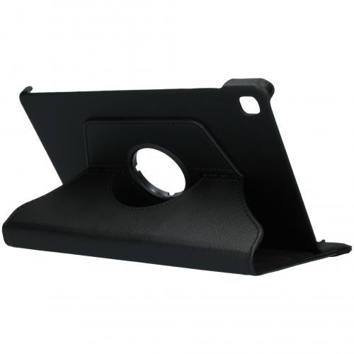 360° draaibare Bookcase voor de Samsung Galaxy Tab S6 Lite - Zwart