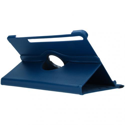 360° draaibare Bookcase voor de Samsung Galaxy Tab S7 Plus - Donkerblauw