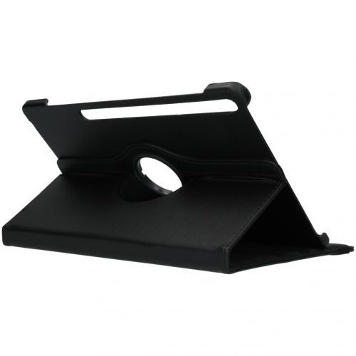 360° draaibare Bookcase voor de Samsung Galaxy Tab S7 Plus - Zwart