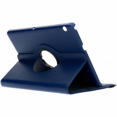 360° Draaibare Bookcase voor Huawei Mediapad T3 10 inch - Blauw