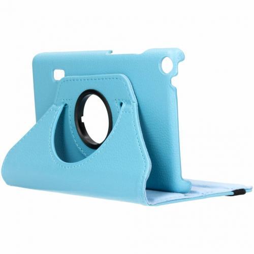 360° Draaibare Bookcase voor Huawei Mediapad T3 7 inch - Lichtblauw