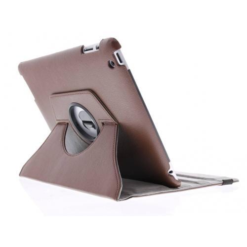360° Draaibare Bookcase voor iPad 2 / 3 / 4 - Bruin