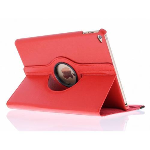 360° Draaibare Bookcase voor iPad Air 2 - Rood