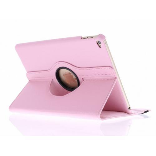 360° Draaibare Bookcase voor iPad Air 2 - Roze