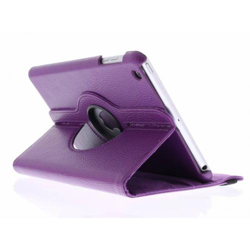 360° Draaibare Bookcase voor iPad Mini / 2 / 3 - Paars