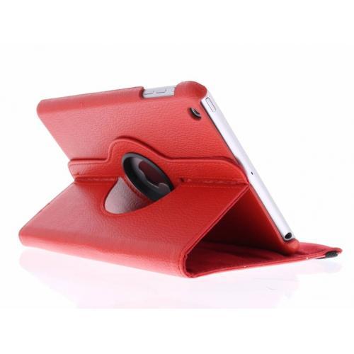 360° Draaibare Bookcase voor iPad Mini / 2 / 3 - Rood