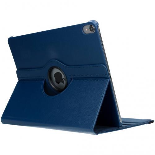 360° Draaibare Bookcase voor iPad Pro 12.9 (2018) - Blauw