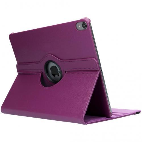 360° Draaibare Bookcase voor iPad Pro 12.9 (2018) - Paars