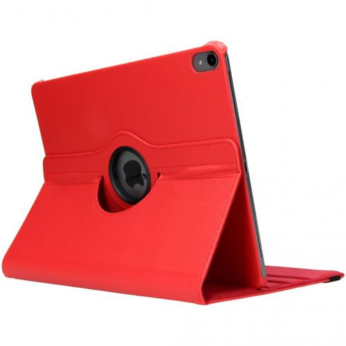 360° Draaibare Bookcase voor iPad Pro 12.9 (2018) - Rood