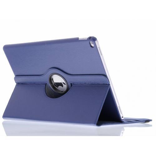 360° Draaibare Bookcase voor iPad Pro 12.9 - Donkerblauw