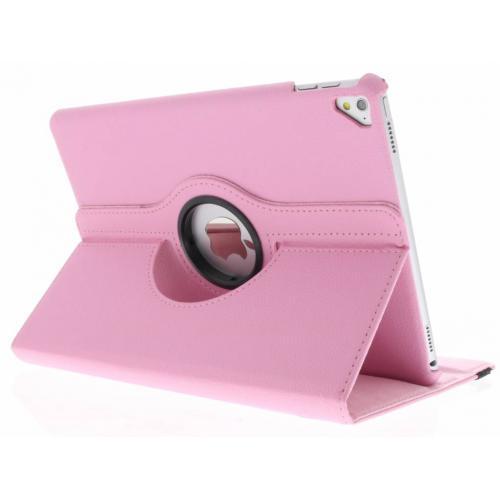 360° Draaibare Bookcase voor iPad Pro 9.7 - Roze