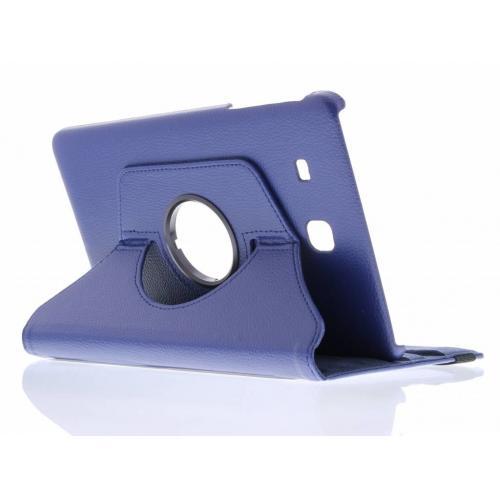 360° Draaibare Bookcase voor Samsung Galaxy Tab E 9.6 - Donkerblauw
