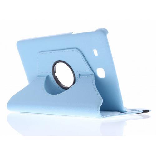 360° Draaibare Bookcase voor Samsung Galaxy Tab E 9.6 - Lichtblauw