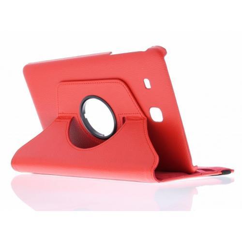 360° Draaibare Bookcase voor Samsung Galaxy Tab E 9.6 - Rood