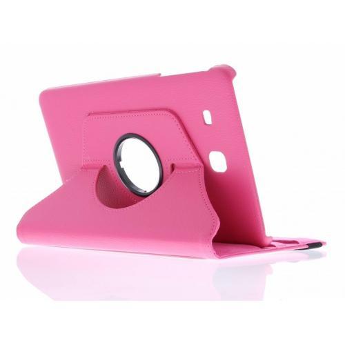 360° Draaibare Bookcase voor Samsung Galaxy Tab E 9.6 - Roze