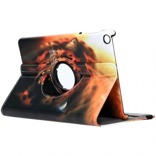 360° Draaibare Design Bookcase voor de Galaxy Tab A 10.1 (2019) - Tijger