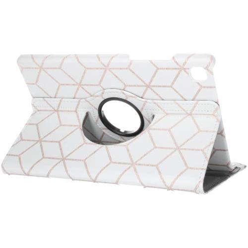 360° Draaibare Design Bookcase voor de Galaxy Tab A7 - Cubes
