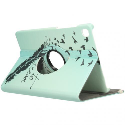 360° Draaibare Design Bookcase voor de Galaxy Tab S6 Lite - Dare to Dream