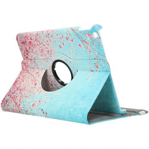 360° Draaibare Design Bookcase voor de iPad 10.2 (2019) - Roze Bloesem
