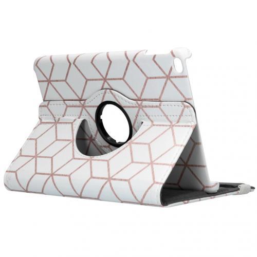 360° Draaibare Design Bookcase voor de iPad mini (2019) - Cubes Rose Gold