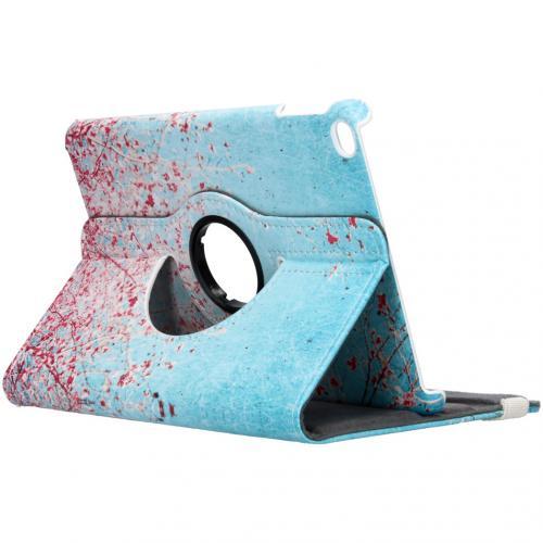 360° Draaibare Design Bookcase voor de iPad mini (2019) / Mini 4 - Roze Bloesem