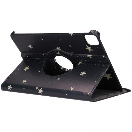 360° Draaibare Design Bookcase voor de iPad Pro 11 (2020) - Gouden Sterren