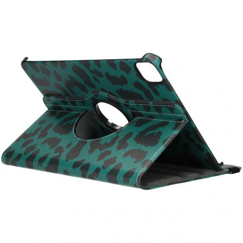 360° Draaibare Design Bookcase voor de iPad Pro 11 (2020) - Groen Panter