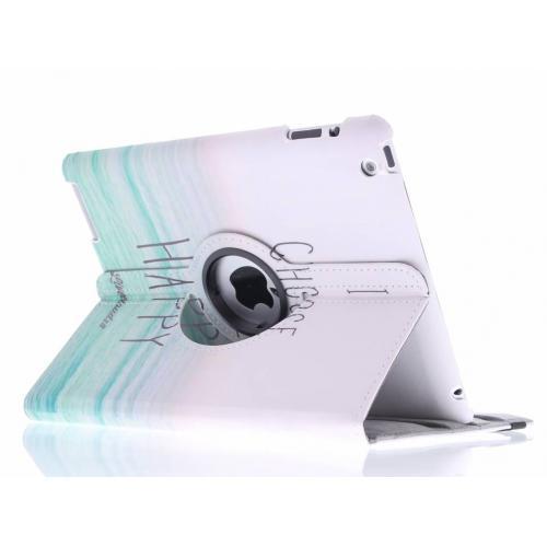360° Draaibare Design Bookcase voor iPad 2 / 3 / 4 - Choose Happy