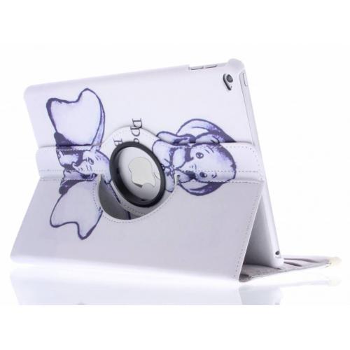 360° Draaibare Design Bookcase voor iPad Air 2 - Be happy